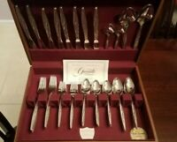 ☆ 50 pc 1847 Rogers Bros SEA ISLAND International Stainless Flatware/McGraw Box