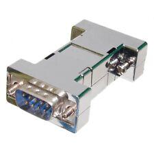 Adapter SubD 9 Stecker auf SubD 9 Stecker metallisiert