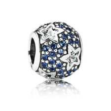 New! Authentic Pandora Charm Silver Follow The Stars Midnight Blue CZ 791382CZ