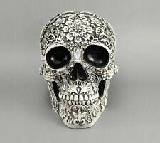 Carved Skull Resin Craft White Skull Head Halloween Party Decor Skull Decoration