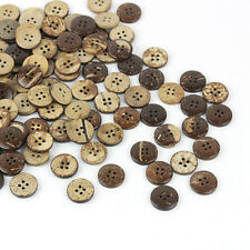 Lot/50pcs 18mm Brown Coconut Shell 4Holes Buttons fit Sewing Craft Scrapbooking