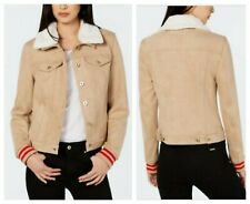 TOMMY HILFIGER CASUAL CHIC VARSITY FAUX SUEDE TRUCKER...