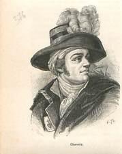 François Athanase Charette de La Contrie Révolution française GRAVURE 1883