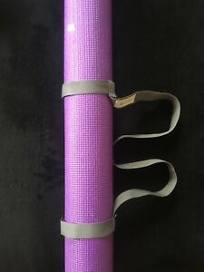 NEW: Circuit Purple Yoga Mat with GAIAM Grey Carry Handle Strap, $19.99