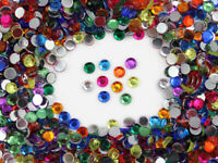 6mm SS30 Assorted Acrylic Rhinestones Flat Back Plastic Gems Crafts - 600 Pieces