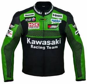 New Green Motorbike Motorcycle Racing Leather jacket LD-444-99-2021( US 38-48 )