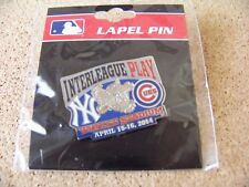 2014 NY New York Yankees v Chicago Cubs Interleague lapel pin MLB Yankee Stadium