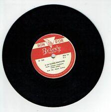 78T Disque 17 cm L. JAMBEL L. LEMERCIER - A LA CLAIRE FONTAINE Chanté BEROVY 788