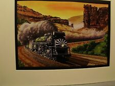 Rio Grande Challenger at Castle Gate Utah  by artist Railroad Archives TI