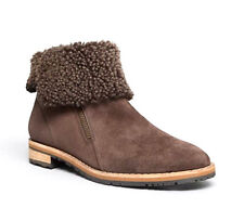 Paul Green Cabo Shearling Coffee Suede Booties Size 7
