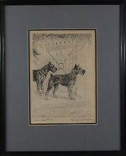 Marguerite Kirmse (American 1885-1954) Original Etching Print Signed