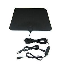 50 Miles HDTV Indoor Flat Antenna Amplified VHF UHF 1080P Digital TV Accessory
