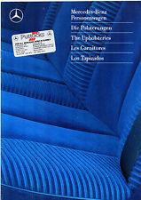 Mercedes-Benz Interior Trims 1989-90 UK Market Brochure 190 W124 S-Class SEC SL