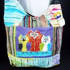 NWT Rising Int. Owl Bag Crossbody Peace Purse Hobo Messenger Festival Bag Nepal