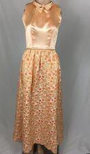 Vtg 50s Formal Evening Dress Wedding Ball Gown Maxi A Line Skirt XS Pockets