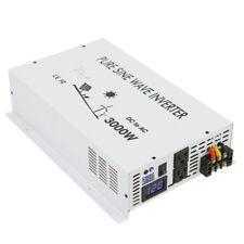 3000W Pure Sine Wave Inverter Power Inverter 12/24/48V to 120/220V LED display