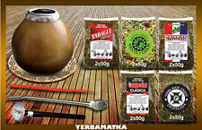Sensational Yerba Mate Tea Set with 5x100g of different kinds + accessories kit