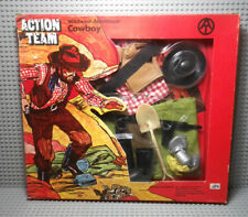 Action Team Wild West CowBoy set - German Action Man GI Joe - Hasbro 1970 - Neuf