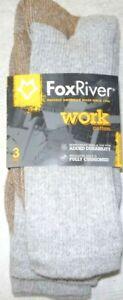Fox River Socks, Fox River Work Value Pack Crew, Fox River 6527, 3 pair, USA Gre