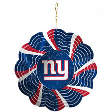 NEW YORK NY GIANTS DECORATION GEO METAL SPINNER CHRISTMAS TREE ORNAMENT