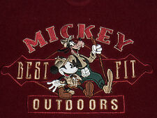 DISNEY OUTDOORS FLEECE SHIRT/JACKET! EMBROIDERED MICKEY & GOOFY! 2 POCKETS! L
