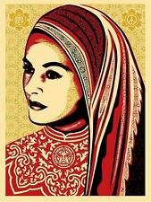 PEACE WOMAN very rare 2008 shepard fairey obey giant  **SOLD OUT**
