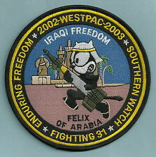 VF-31 TOMCATTERS NAVY FIGHTER SQUADRON PATCH WESTPAC 02-03 FELIX OF ARABIA