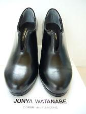 Nuevo Raro Junya Watanabe Comme des CDG cordobés Abertura Frontal Negro Zapatos UK S 5