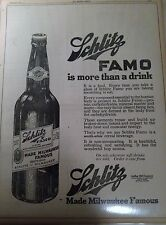 APR 24, 1919 NEWSPAPER PAGE #J5321- SCHLITZ BREWING CO.- SCHLITZ FAMO- FULL PAGE