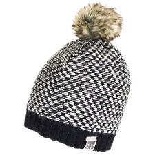 Kusan Accessories Brooklyn Bobble Hat w/ Faux Pom - Black