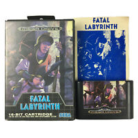 FATAL LABYRINTH Sega Mega Drive Game Complete In Case With Manual