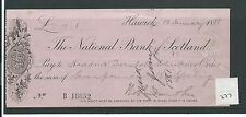 wbc. - CHEQUE - CH277 - USED -1880's - NATIONAL BANK of SCOTLAND, HAWICK