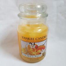 ❀ڿڰۣ❀ YANKEE CANDLE Large STAR FRUIT & ORANGE Scented HOUSE WARMER CANDLE JAR ❀