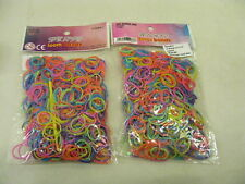 1200 x WEAVE Multi Coloured Mixed Rubber Loom Bands Clips & Tool Kids Crafts Set