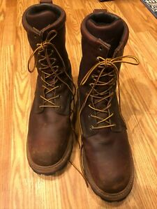 Red Wing Shoes ASTM  F2892 18 EH Brown leather  Boots Steel Toe Size 10
