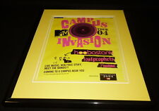 Mtv Campus Invasion 2004 11x14 Framed Original Advertisement Hoobastank