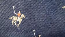 BIANCHI DARKBLUE YELLOW HORSE HOCKEY PLAYER REPT SILK NECKTIE TIE MSE1616B #P12