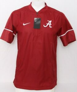 New Alabama Crimson Tide Nike Football Sideline Short Sleeve Hot Jacket Men's L