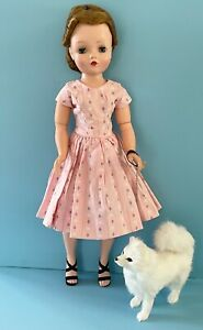 Doll Accessory: Fur Dog for Vintage Madame Alexander Cissy, French German Bisque