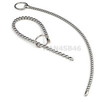 260mm LONG BEADS Urethral Sound Stainless Steel Plug Dilator Stretching Tube NEW