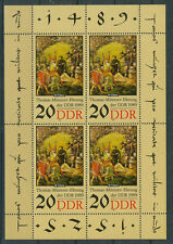 DDR Briefmarken 1989 Thomas Müntzer Kleinbogen Mi.Nr.3271 Postfrisch