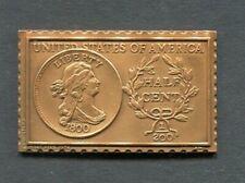 1800 United States Draped Bust 1/2 Half Cent Numistamp Medal 1976 Mort Reed