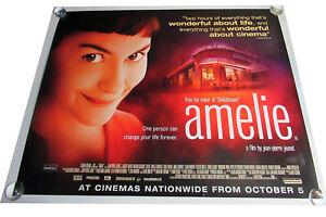 Amelie movie UK quad poster ORIGINAL D/S full size Jean-Pierre Jeunet
