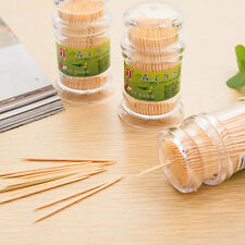 Natural Fine Bamboo Disposable Toothpicks Green Oral Dental Picks Cleaning Brush