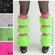 Cheshire Cat Costume Green Fur Leg Warmers Pink Boot Covers Cosplay Clothing Diy