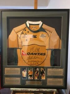 Qantas Wallabies signed jersey