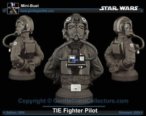 Star Wars Gentle Giant  IMPERIAL TIE FIGHTER PILOT  BUST RARE