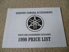 RARE Yamaha Motorcycles Sales Brochure 'Accessories Price List' 1998 - LOOK!