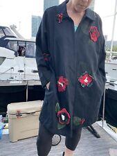 Vintage Staley Gretzinger JG Mad Lab Wearable Art Wool Swing Coat Sz SM
