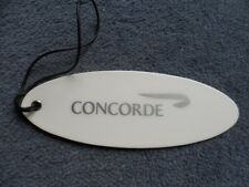 British Airways Concorde White Luggage Tag Rare